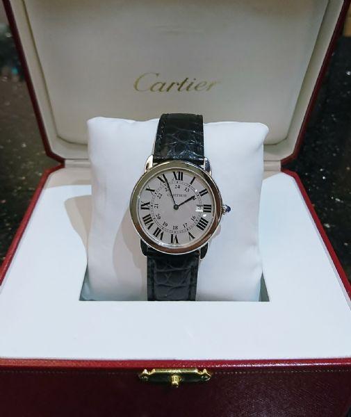 Cartier卡地亞Ronde Solo de圓形坦克中型石英腕錶/名錶收購/鑽石/黃金/中山區當舖