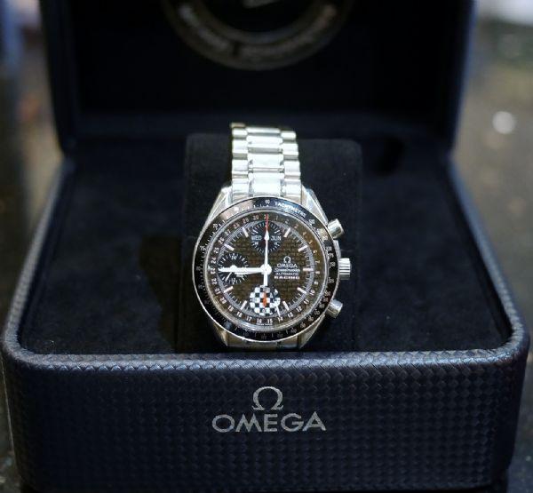 【社會在走,手錶要有】Omega歐米茄 超霸 2002年舒馬克F1冠軍紀念錶款~中山區恩典當舖推薦